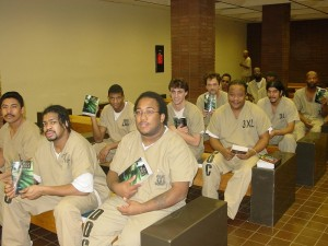 Prisoners taking advantage of the discipleship ministry